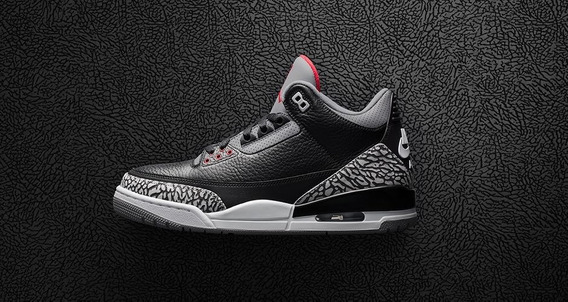 Nike Air Jordan Iii Retro Black Cement