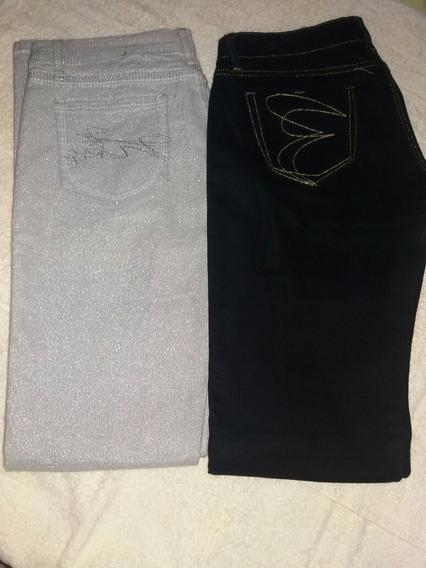Jeans Plata Y Negro Poco Uso En Perfecto Estado Talla 9/10