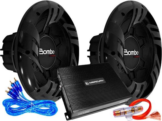 Sistema De Audio Car Amplificado 600 Watts Rms 12 Pulgadas