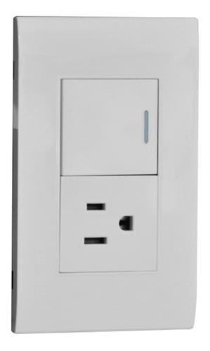 Imagen 1 de 3 de Interruptor + Toma Blanco Premium White De Lujo