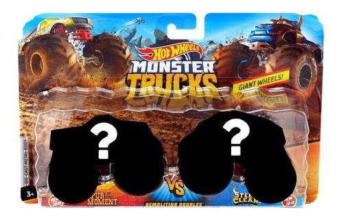 Imagem 1 de 4 de Hot Wheels Pack De 2 Carrinhos Monster Truck Surpresa Fyj64