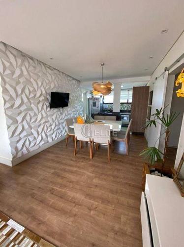 Apartamento Com 3 Dormitórios À Venda, 145 M² - Vila Assunção - Santo André/sp - Ap12625