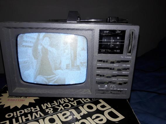 Televisor E Rádio Portátil Broksonic De 5 Polegadas