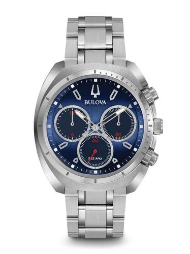 Relógio Bulova Curv Masculino Wb31952f 96a185 Azul Aço