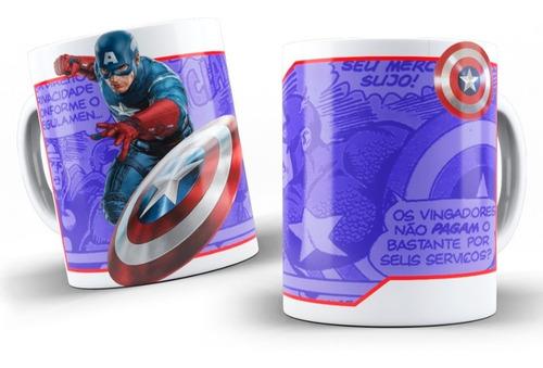 Imagen 1 de 1 de Mug Pocillo Capitán America Vengador Taza + Obsequio