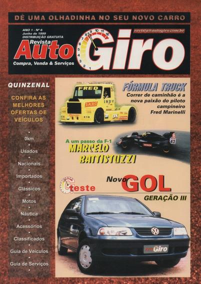 Revista Auto Giro N°6 Teste Volkswagen Gol G3
