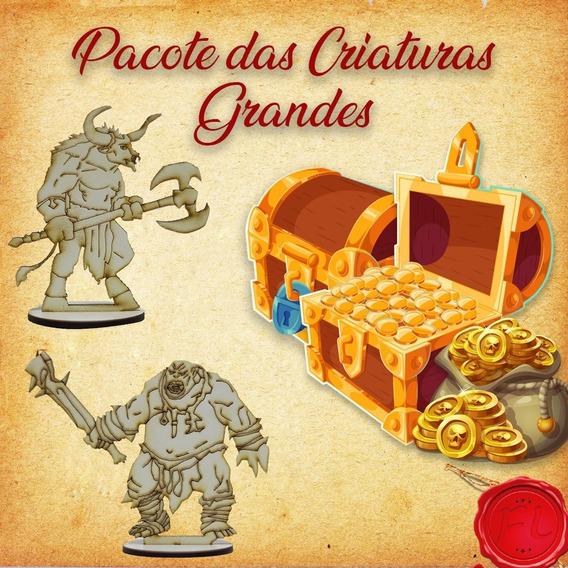 Pacote Das Criaturas Grandes- Miniaturas Rpg