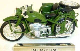 Miniatura Moto Ural Com Sidecar - 1:24 Na Caixa - Raro !!!