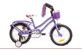 Bicicleta Rodado 16 Halley Playera Dama De Lujo Con Rueditas