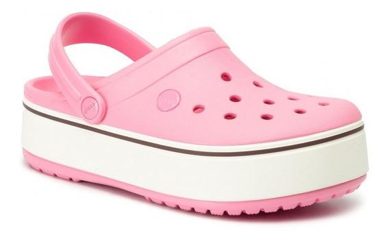 Crocband Platform Kid Clog Gs - Pink Limonade /burbundy
