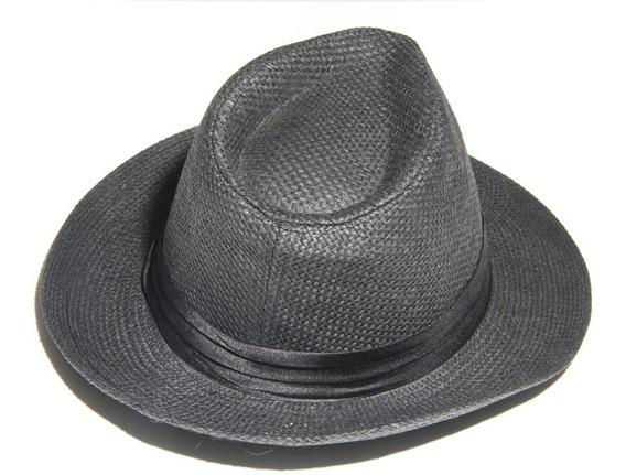 Sombrero Panama Negro X Unidad