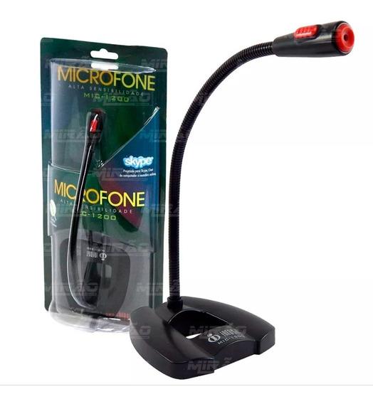 Microfone De Mesa Para Desktop Infokit - Mic-1200