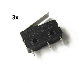 Kit 3x Chave Micro Switch Kw11-3z C/haste 18mm Pt 3t 5a