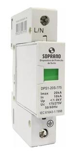 Protetor Surto Dps Anti Raio 1p 20ka 275v Biv F/n Soprano