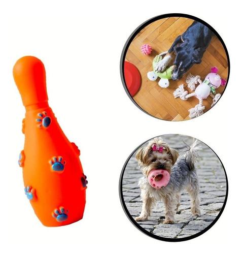 Brinquedo Pet - Pino De Boliche De Borracha Cor:laranja