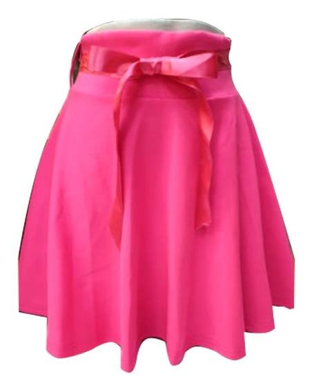 Falda Corta Con Lazo Diversos Colores Para Mujer Mtk