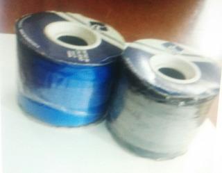 Cinta Gros #3 De 10 Mm Azul Rey Y Negro /46 Mts Porta Carnet