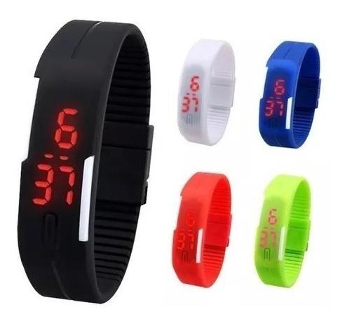 Kit Com 10 Relógios Led Sport Bracelet Pulseira Silicone