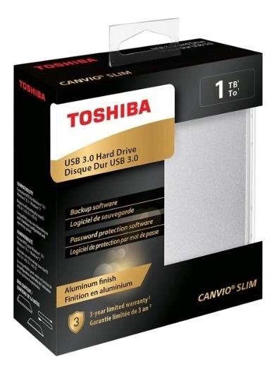 Hd Externo 1tb Toshiba Slim Prata