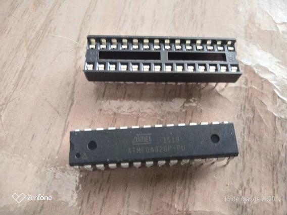 Atmega328 P Com Bootloader + Soquete 28 Pinos - 10 Peças