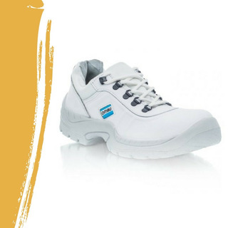Zapato De Seguridad Trabajo Ombu Ozono Blanco P/acero