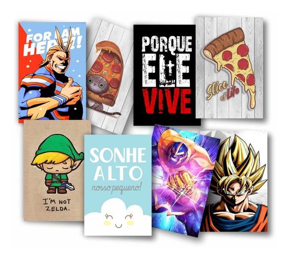 Kit 10 Placas Decorativas Mdf Frases Geek Games Heróis