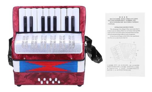 Imagen 1 de 9 de Mini 17 Teclas 8 Bajo Piano Acordeón Instrumento Musical De