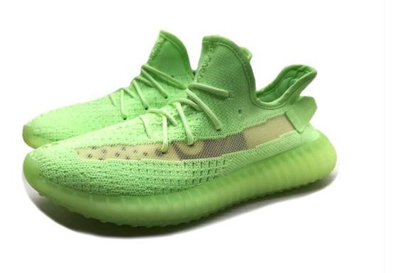 adidas Yeezy Boost 350 V2 Static Reflective Verde + Brinde