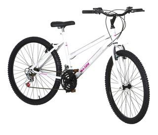 Bicicleta Pro Tork Ultra Aro 26 18 Marchas V-brake Branca
