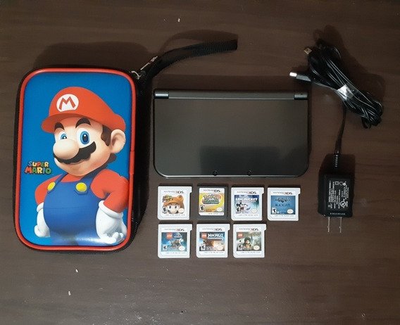 New Nintendo 3ds Xl + 7 Jogos + Case Super Mario