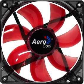 Kit 2 Cooler Fan 12cm Gabinete Pc Led Vermelho Spectrum Nfe