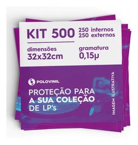 250 +250 Lp Vinil Plastico Externo E Interno Capa Disco 0.15