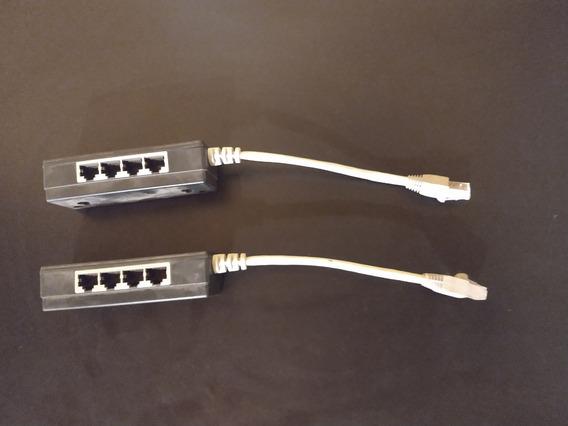 Adaptador De Extensión Ethernet Rj45 1 A 4