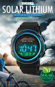 Relógio Solar Esportivo Masculino Skmei 1096 Original