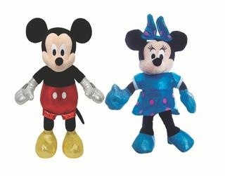 Kit Pelúcia Minnie E Mickey Mouse Ty Infantil 19cm Fofinho