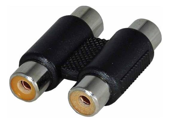 Emenda Dupla Rca Conector Adaptador Av Cabo Áudio E Vídeo
