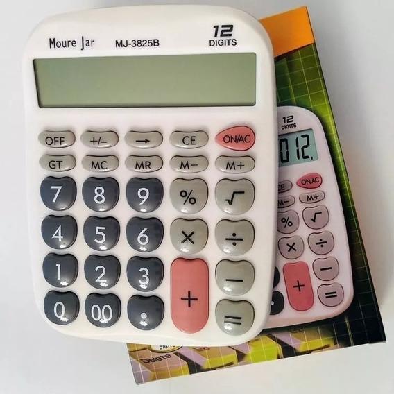 Calculadora Mj De Mesa C Display E Teclas Grandes 12dig