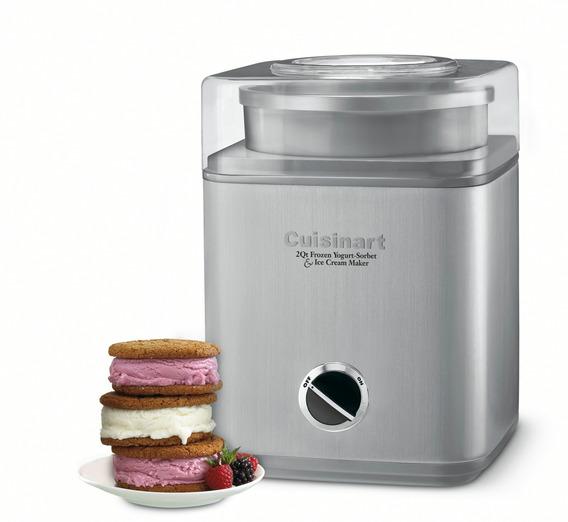 Maquina De Helado Automática 2l Acero Cuisinart Ice-30bc
