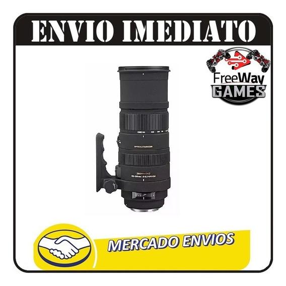 Lente Sigma Apo 150-500mm F5-6.3-dg-os- Hsm P/ Nikon + Nfe