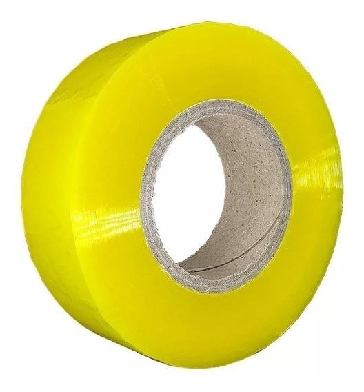 10 Fita Larga Transparente 400m Adesivas Embalar Durex