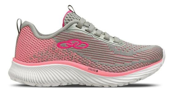 Tênis Running Olympikus Infantil Oxide Kids 723 Cinza/rosa