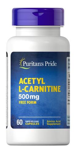 Acetil L-carnitina Acetyl L-carnitine 500 Mg 60 Caps Cerebro