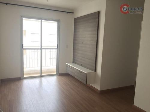 Apartamento Com 3 Dormitórios À Venda, 62 M² Por R$ 380.000,00 - Parque Cecap - Guarulhos/sp - Ap3339