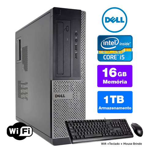 Imagem 1 de 5 de Computador Usado Dell Optiplex Int I5 2g 16gb 1tb Brinde