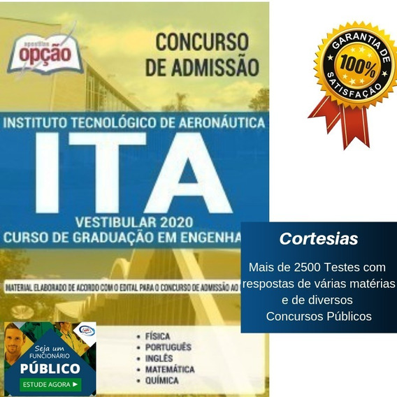 Apostila Vestibular Ita Graduação Engenharia - Aeronáutica