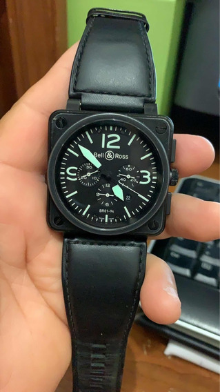 Bell & Ross Br 01-94 Military Black Pvd Chronograph 46mm