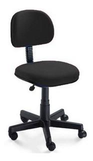 Cadeira Secretaria Giratória Preta