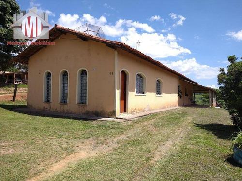 Chácara Ampla Com 03 Dormitórios, Pomar E Linda Vista À Venda, 1000 M² Por R$ 400.000 - Rural - Socorro/sp - Ch0611