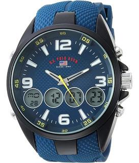 Reloj De Cuarzo Analógico Hombre Correa Goma, Modelo Us9598
