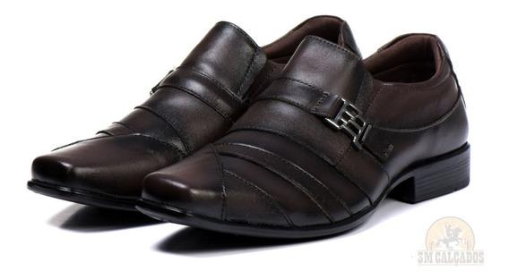 Sapato Social Confort Luxo Masculino 100% Couro Promoção